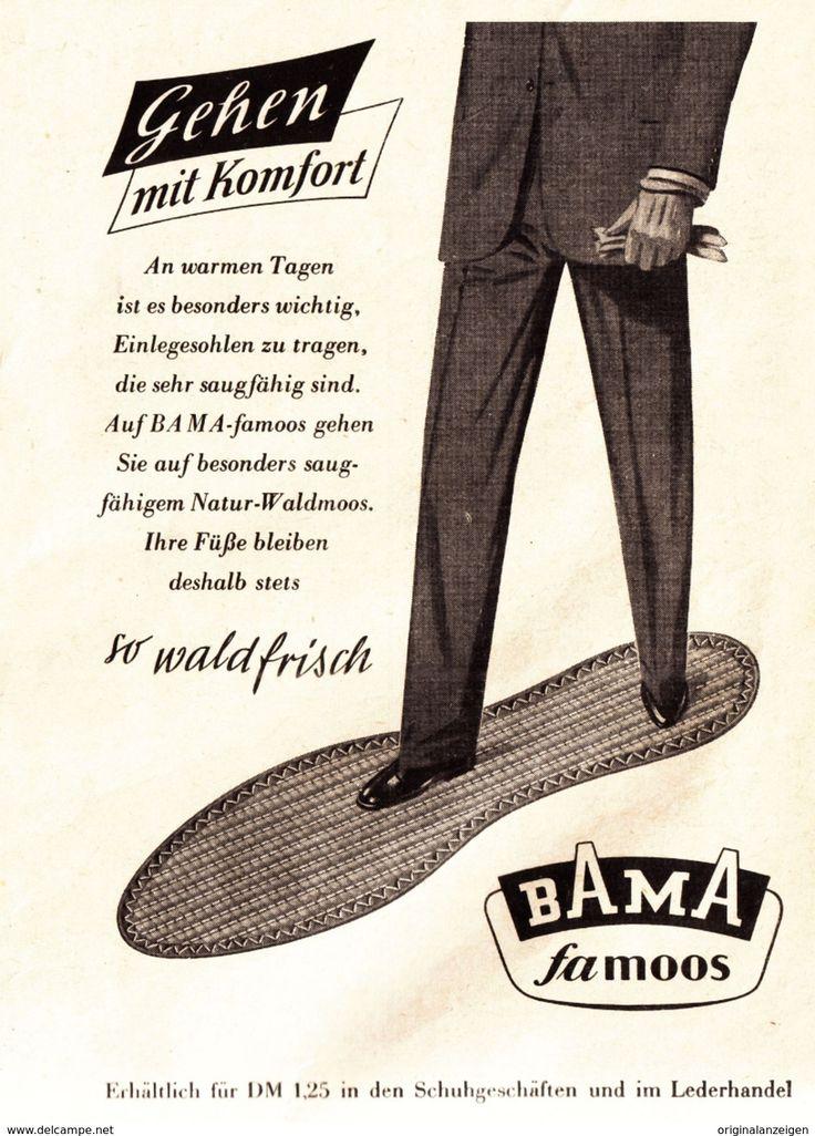 Werbung - Original-Werbung/ Anzeige 1955 - BAMA FAMOOS EINLEGESOHLEN - ca. 110 x 155 mm