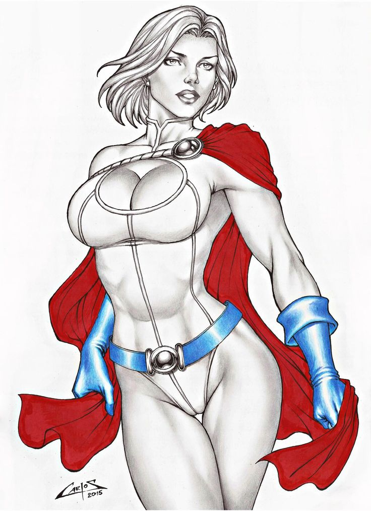 POWERGIRL, SALE ON E-BAY NOW !!! by carlosbragaART80 on @DeviantArt