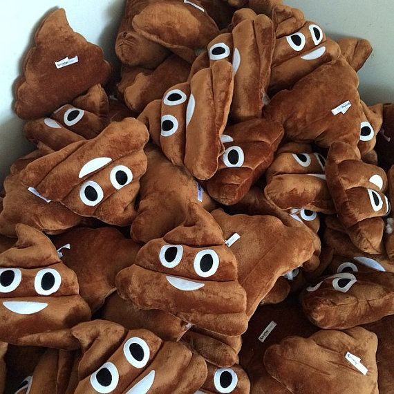 POOP EMOJI PILLOW - Kissy, Devil, Smirk, Heart Eyes Emoticon Iphone Smiley - Free Shipping