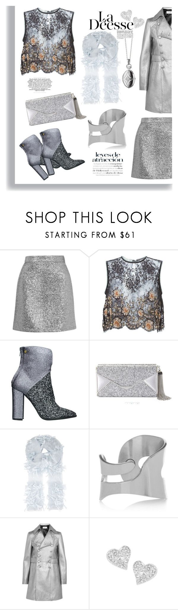 """Silver Moment"" by ildiko-olsa on Polyvore featuring Topshop, Alessandra Rich, Lara Hampton, BCBGMAXAZRIA, Armani Collezioni, MM6 Maison Margiela, Yves Saint Laurent, Vivienne Westwood and Monica Rich Kosann"
