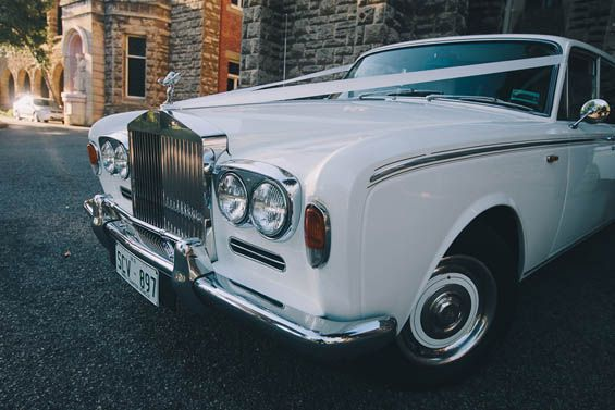 Nothing beats a Rolls Royce for riding in style on your wedding day