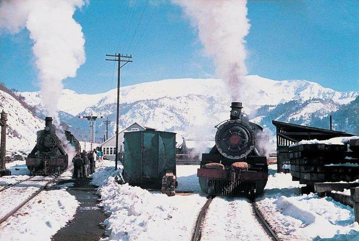 La Estación Sierra Nevada de Lonquimay en el año 1971.- Chile