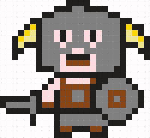 Dovakiin Skyrim Perler Bead Pattern / Bead Sprite