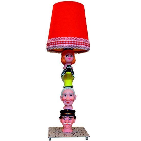 Een originele lamp van poppenkastpoppen