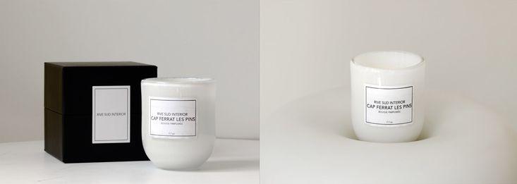 Cap Ferrat Les Pins, bougie parfumée Rive Sud Interior / Rive Sud Interior scented candle #rivesudinterior #candle #luxurycandle #scentedcandle #bougie