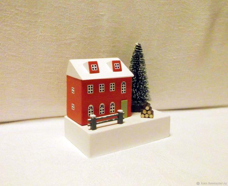 Купить Домики, миниатюра, новогодний декор,снежная сцена в интернет магазине на Ярмарке Мастеров