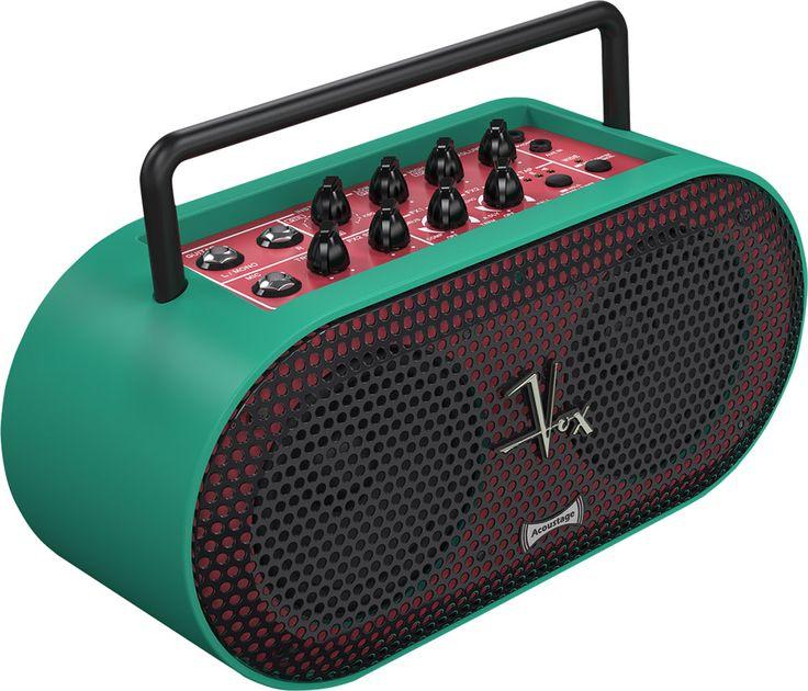 VOX Ampli stéréo portable qui peut servir pour guitare, basse ou clavier, en tant que lecteur multimédia, mais aussi pour chanter grâce à sa possibilité d'être sur pied de micro et sa fonction Voice Cancel. 5 watts, portable (fonctionne sur piles), un bonheur à toujours avoir avec soi ! Coloris vert.