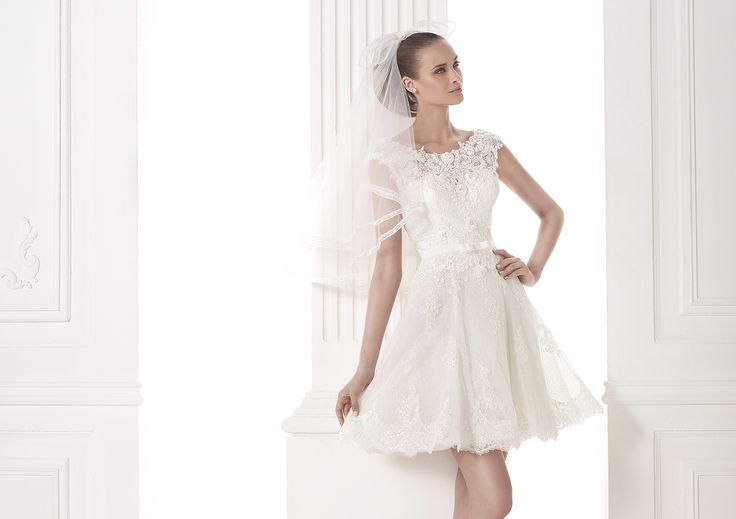 novias con vestidos cortos de tul 2015