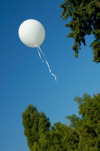 balloon release in memory of deceased loved ones at your wedding via blog: 25 Unique Ways To Honor Deceased Loved Ones At Your Wedding via InkedWeddings.com