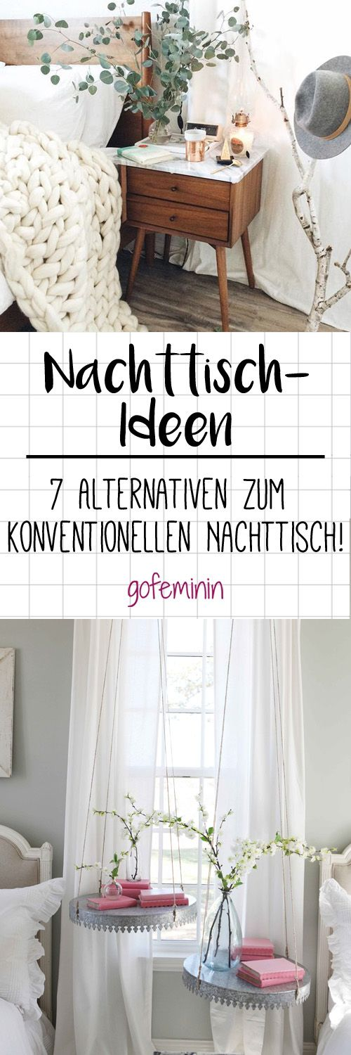 die besten 25 nachttische ideen auf pinterest nachtgestelle beistelltische und nachttisch. Black Bedroom Furniture Sets. Home Design Ideas