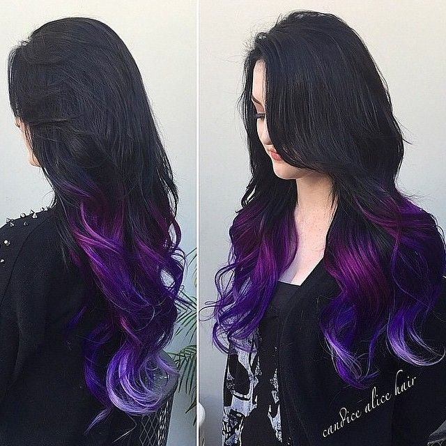 angel_of_colour's photo on Instagram // perfect purple dip-dye from @angel_of_colour