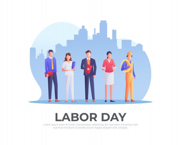 Workers Set For Labor Day Labor Day Clip Art Labor Day Pictures Happy Labor Day