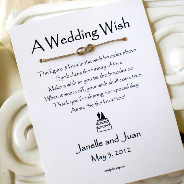 A Wedding Wish With Bride And Groom