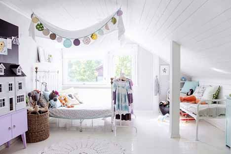 cute girl's room (via Kotivinkki) - my ideal home...