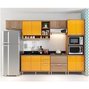 Cozinha Compacta Aéreos, Armário p FornoMicroondas e Balcões de PiaCooktop - Cozinha Compacta no Pontofrio.com