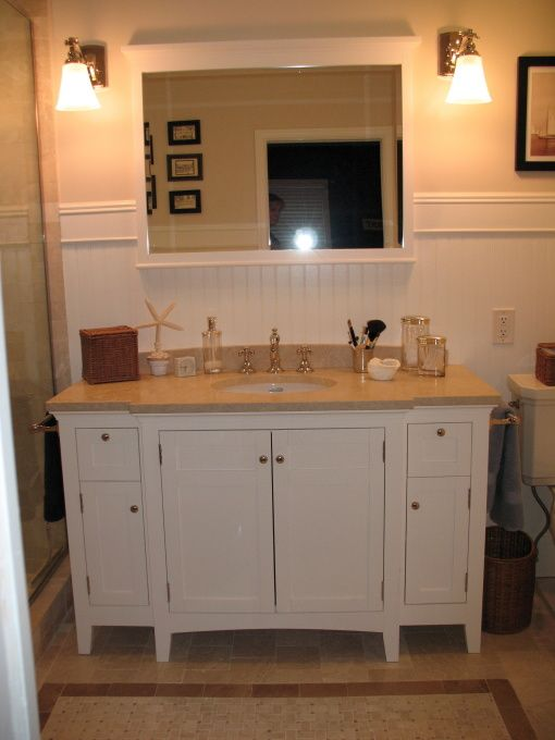 Notice On Right Side The Space Between The Vanity