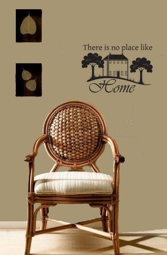 """Whimsical Wall Stickers - There is no place like home (Decal), $9.95 (http://www.whimsicalwallstickers.com.au/there-is-no-place-like-home-vinyl/)   These are beautiful words that deserve a place in anyone home: """"There is no place like home""""    Contents:  sticker parts and transfer paper  Size: when installed: 80 cm x 56 cm (estimated)   Material: Vinyl"""