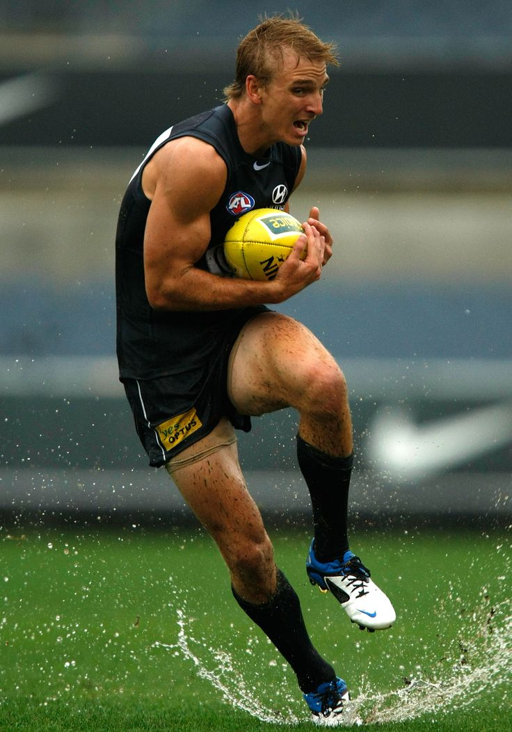 Taking a mark during a Blues intra-club practice match at Visy Park in 2011 pre-season.