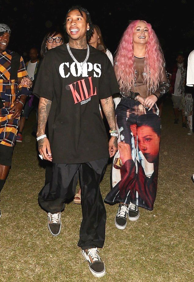 Kylie Jenner Ex Tyga Enjoying With Iggy Azalea At Coachella Music Festival Coachella Music Festival Spring Fashion Outfits Tyga