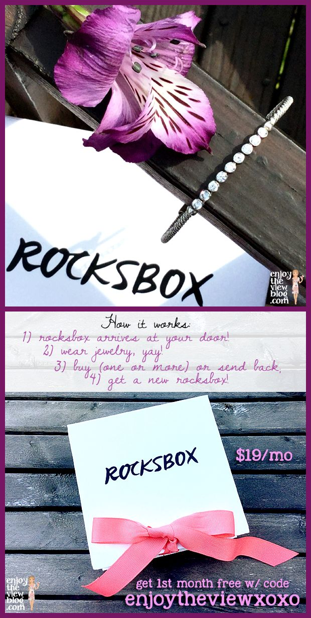 Rocksbox Review! Find out what I received in my 2nd Rocksbox and how you can try Rocksbox for one month FREE! Jewelry delivered to your door – just like pizza!! #Rocksbox #jewelry #RBItGirl