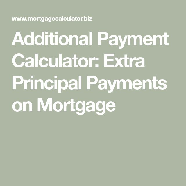 additional payment calculator extra principal payments on mortgage