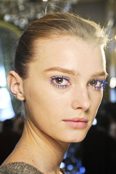 Mickey Blue eyes! Seen at Stella McCartney..: Blue Eyelashes, Stella Mccartney, Colors Mascaras, Electric Eyelashes, Beautiful Parties, Beautiful Tips, Blue Lashes, Beautiful Trends, Blue Mascaras
