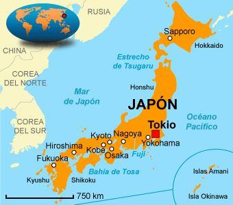 mapa politico de japon - Buscar con Google