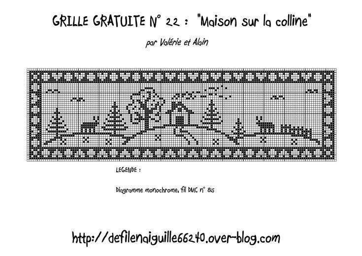 Free pattern (Filet crochet)