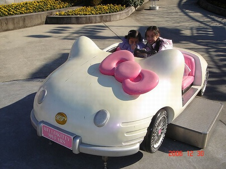 awesome hello kitty car for the kids