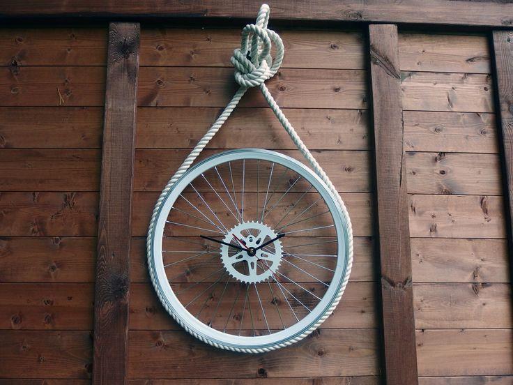 Bike Wheel Clock Marine by BikesBazaar on Etsy