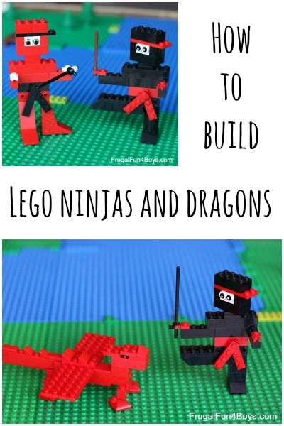 Building instructions for Lego ninjas and dragons.