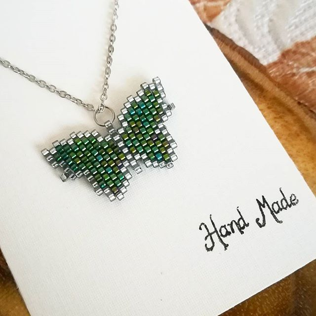 #miyuki#kolye#kolyemodelleri#necklace#jewellery#taki#tasarim#takı#handmade#elyapimi#elisi#like#kelebek#butterfly#insta#foto#instagood#instadaily#moda#trend#fashion#stil#desen#design#woman