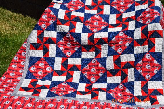 New England Patriots Quilt KIT by UltimateQuilts on Etsy