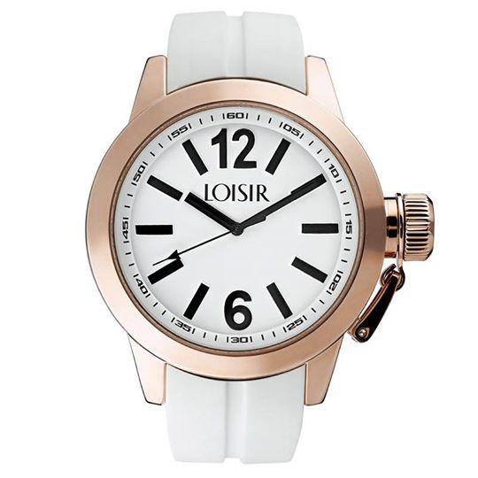 LOISIR Γυναικείο Ρολόι με Σιλικόνης Λευκό Λουράκι. Θα το βρεις στο e-shop μας με 20% έκπτωση.