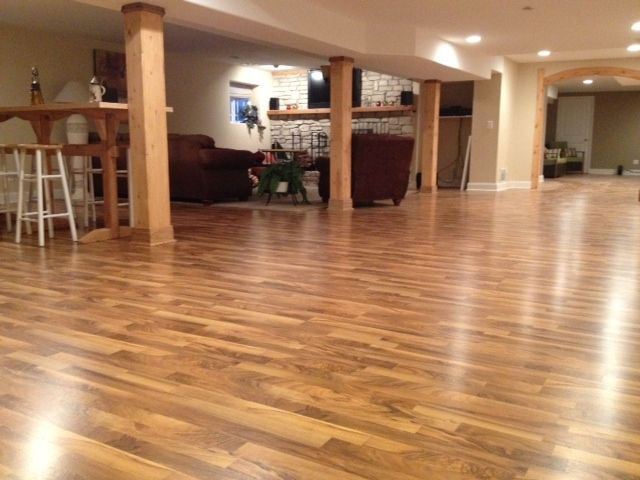 Unfinished Basement Ideas On A Budget Tarkett Occasion Laminate Flooring - Italian Walnut At
