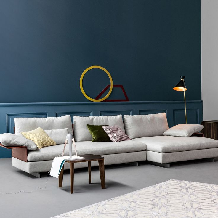 Leather Sofas The Gossip sofa stands out for the special system of mix and match modules it prises Meaning that different accessories such as backrests with support