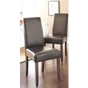 Acadian Faux Leather Parson Chair - Set of 2