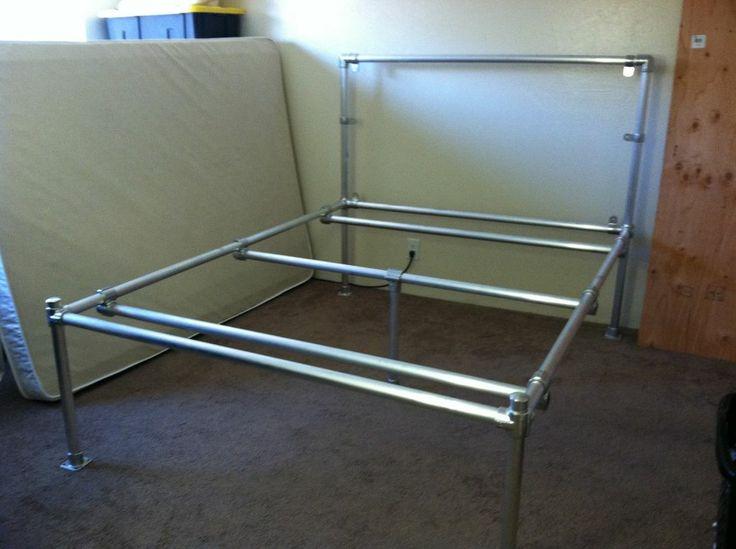 diy conduit pipe bedframe