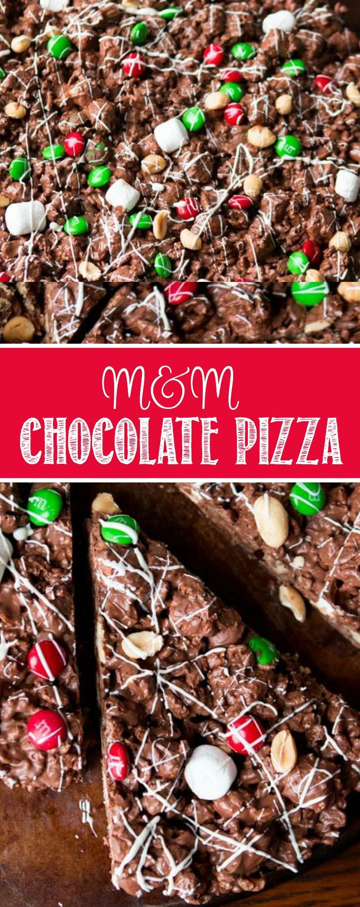 There's an amazing air about the holidays, but it's also too busy. This year choose to cut out the crazy and make this quick and easy m&m chocolate pizza. no-bake via @ohsweetbasil