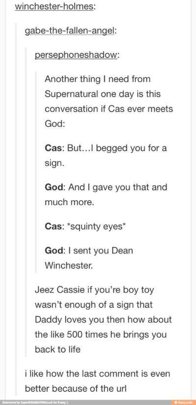 I sent you Dean Winchester