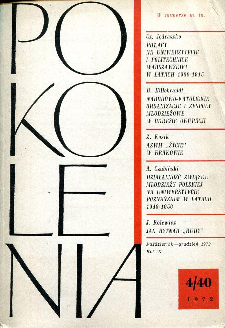 """""""Pokolenia"""" Cover by Jan Śliwiński Published by Wydawnictwo Iskry 1972"""