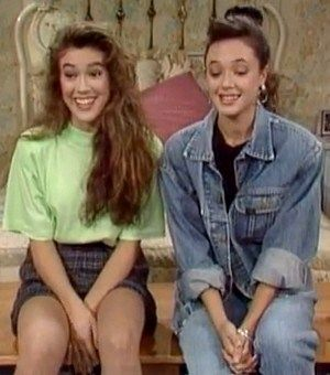 Leah Remini with Alyssa Milano  in the Who's The Boss  spin off show for Living Dolls