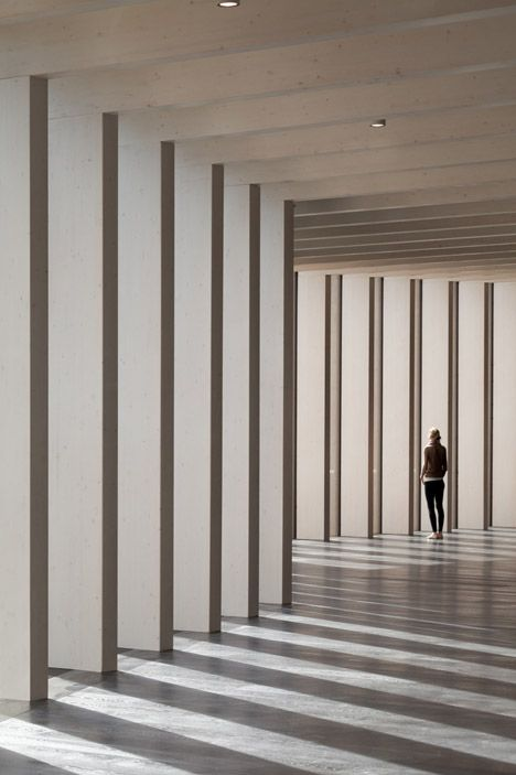 """This museum has a stripy facade based on an """"abstract forest""""."""