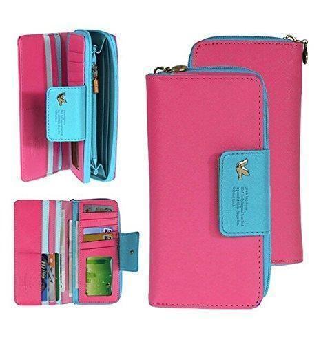 Oferta: 5.99€. Comprar Ofertas de Jastore® Mujeres largo monedero de PU cuero cartera billetero bolso de mano con cremallera larga rosa barato. ¡Mira las ofertas!