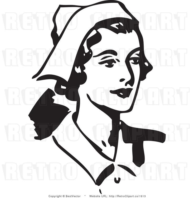 Black and White Retro Vector Clip Art health