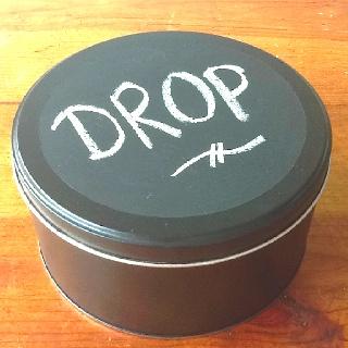 Drop doosje met schoolbordverf