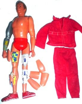 six million dollar man doll - I stole this doll and Stretch Armstrong from my brother so Barbie would have more dates to choose from. Ken was kind of a weenie.