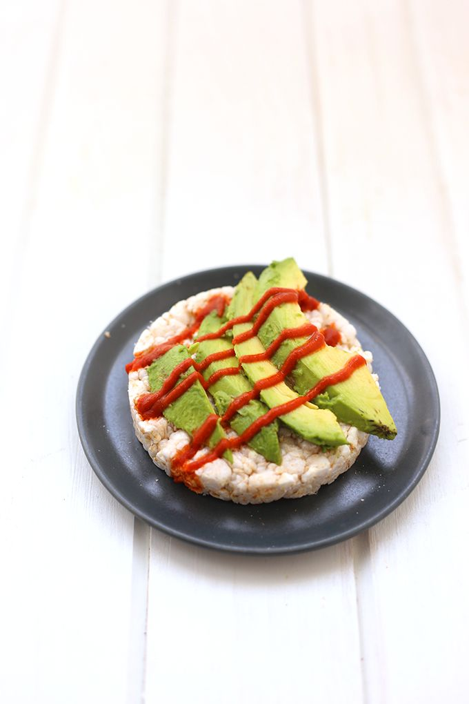 Attractive Avocado And Sriracha Rice Cakes + A Round Up Of Healthy Dorm Room Snack  Ideas Part 30