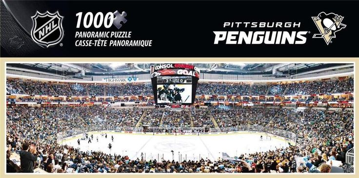 NEW Jigsaw Puzzle 1000 Piece NHL PITTSBURGH PENGUINS Hockey Team Stadium #MasterPieces