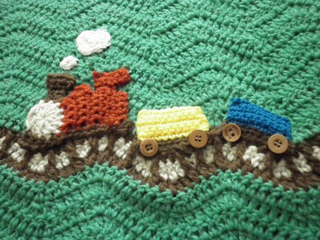 Knitting Pattern Train Blanket : 17 Best images about Best Crochet Baby Afghan Patterns on ...